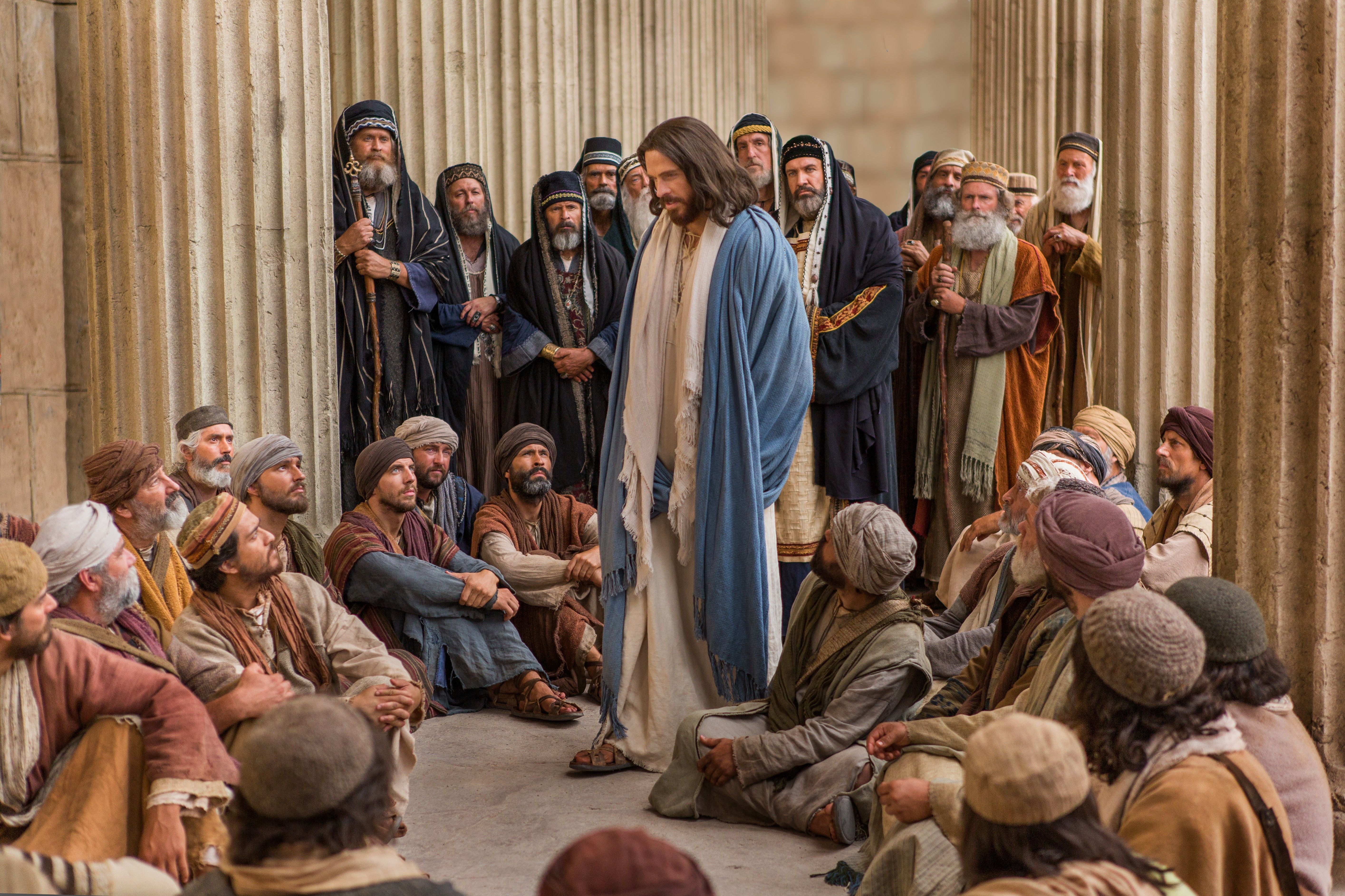 Jesus is questioned by Pharisees, and He teaches them.