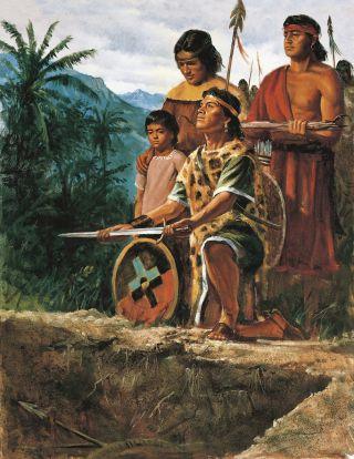 The Anti-Nephi-Lehies burying their swords