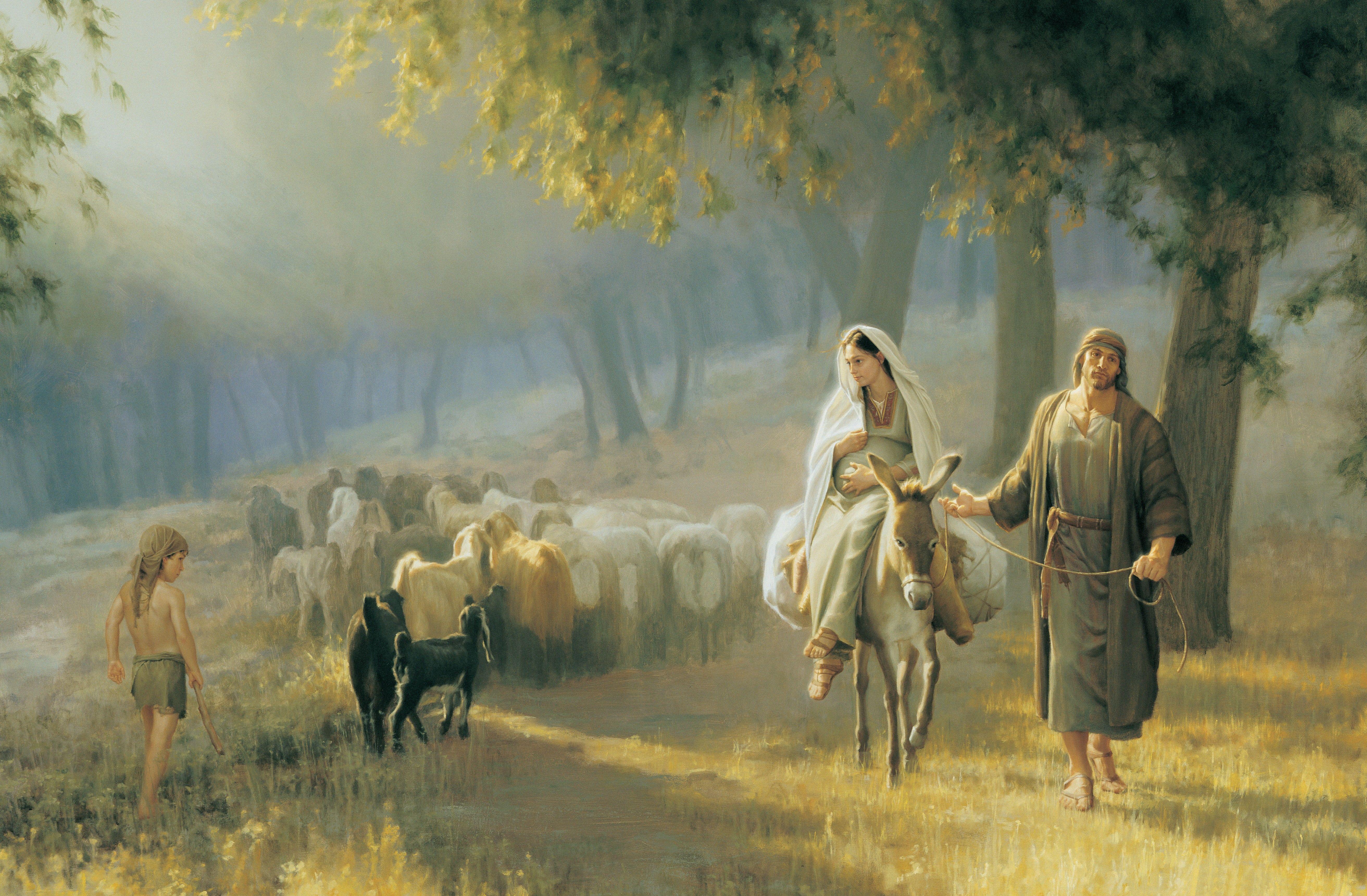 The Road to Bethlehem, by Joseph Brickey; GAB 29; Luke 2:1–5