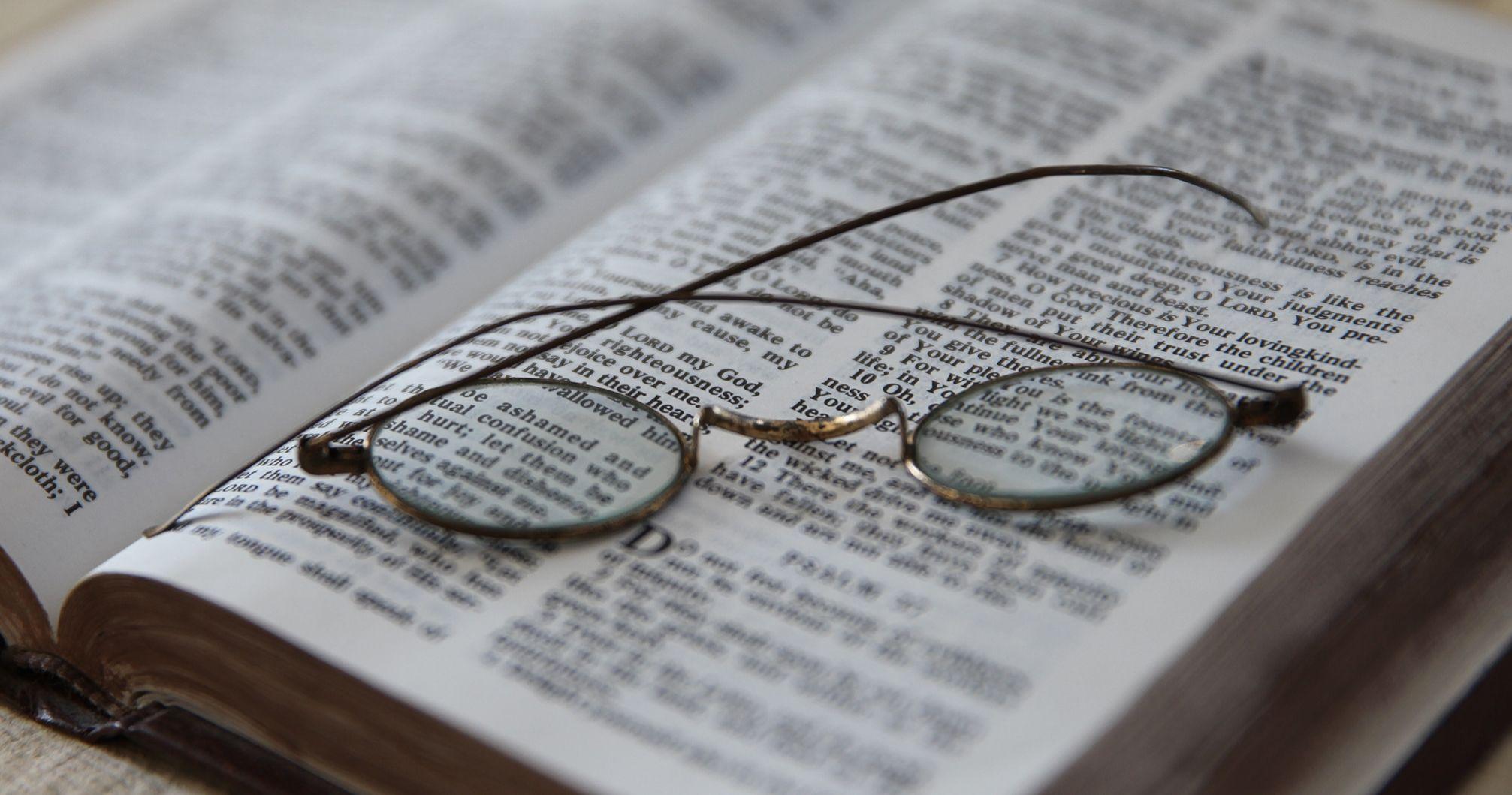 Open book of scriptures