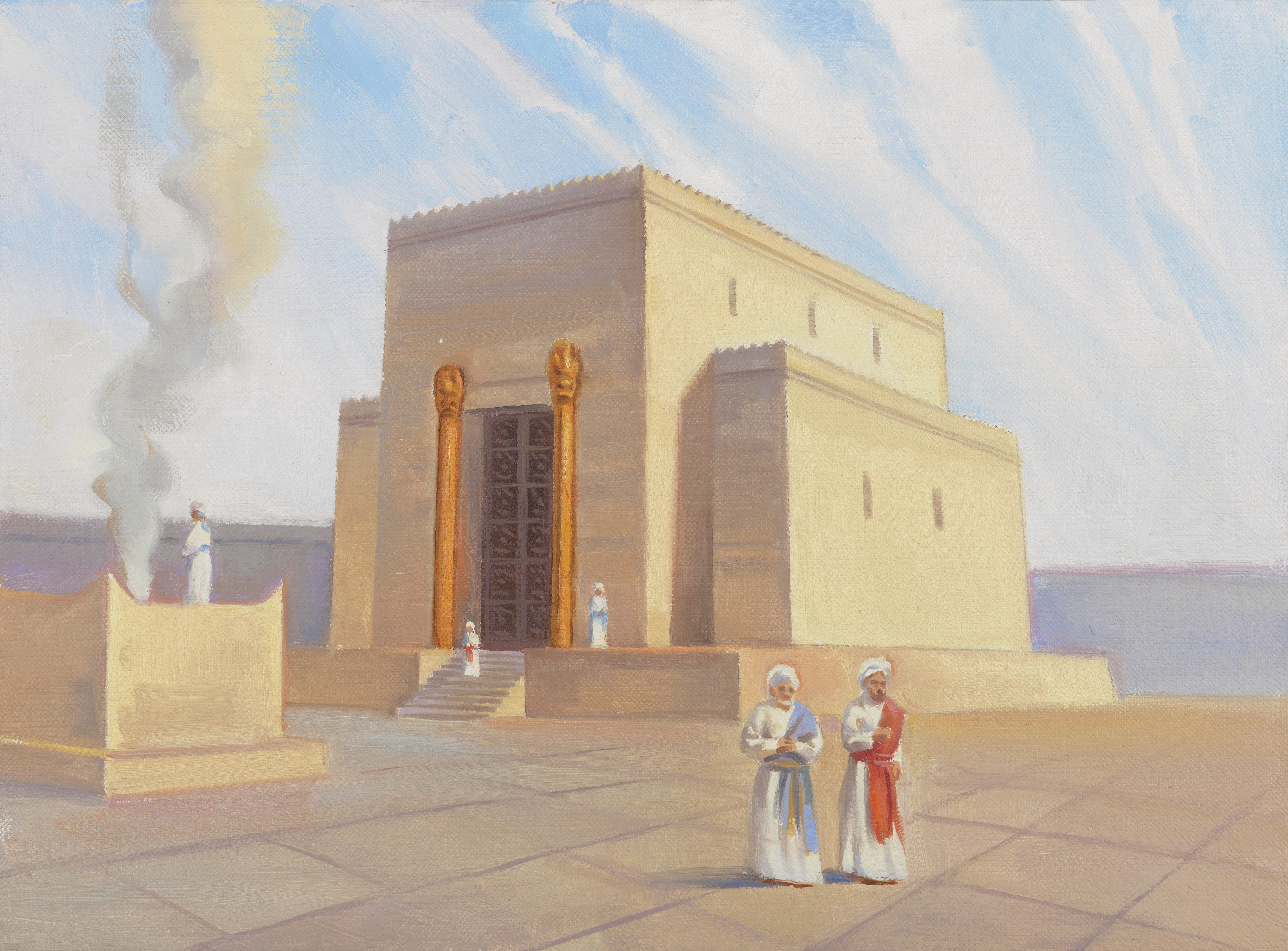 A depiction of Zerubbabel's temple, by Sam Lawlor.