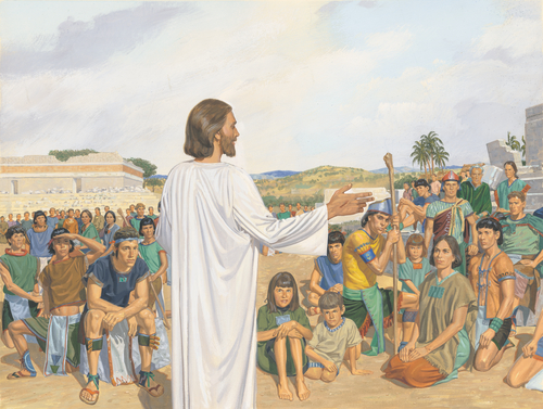 Savior talking to everyone