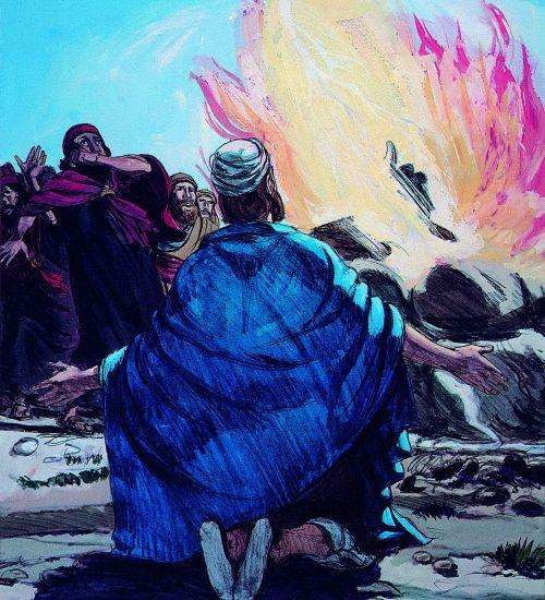 sacrifice and altar burning
