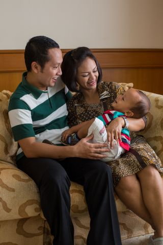 A Couple with Son