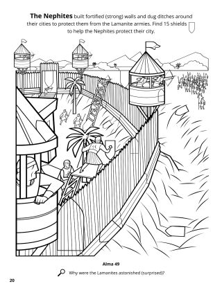 The Nephites' Fortifications coloring page