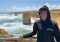 Young Man in Hoodie at Beach in Australia