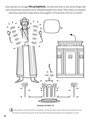 Ninth Article of Faith coloring page
