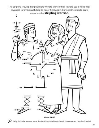 The Stripling Warriors coloring page