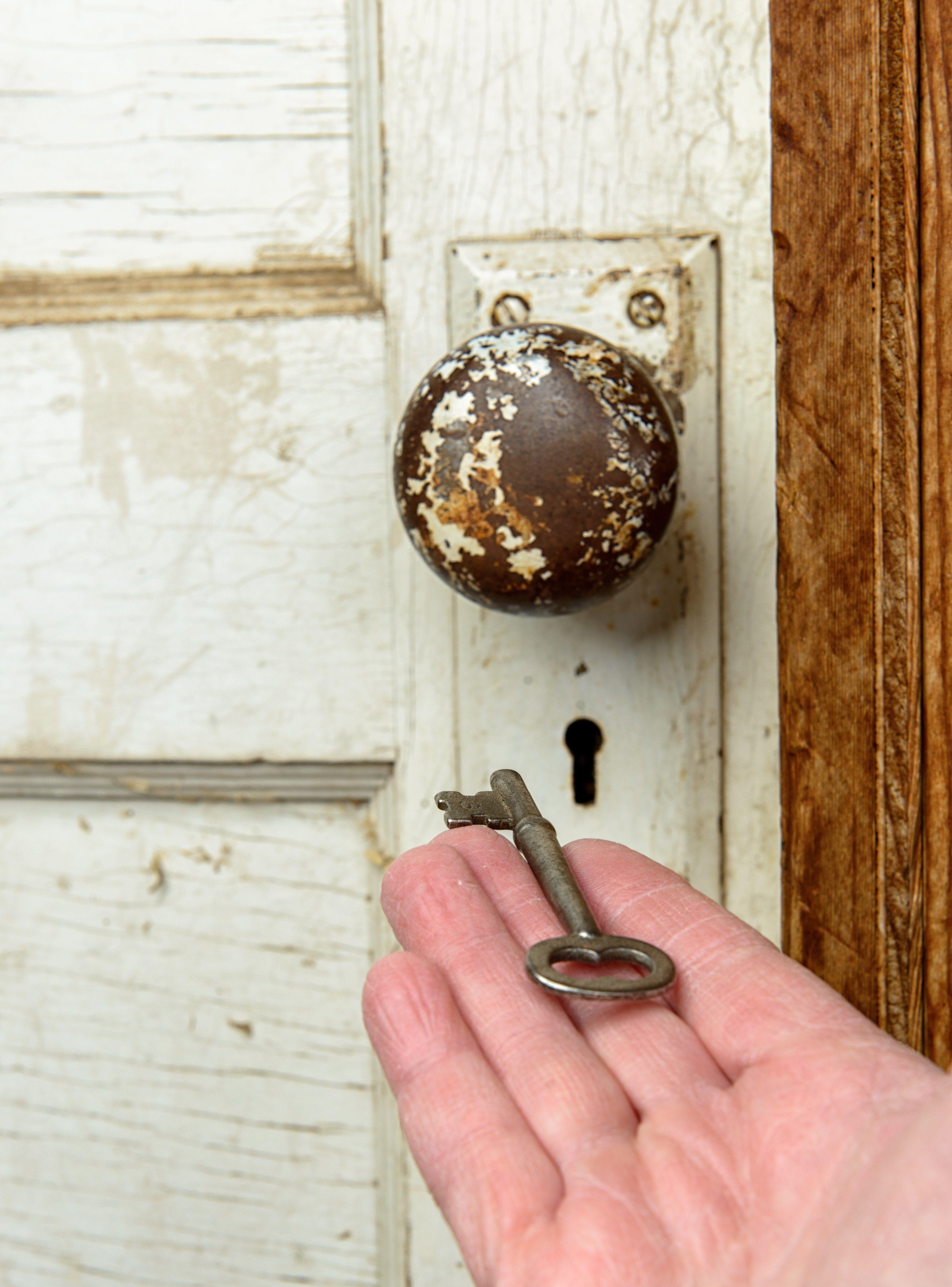 Lock and key.