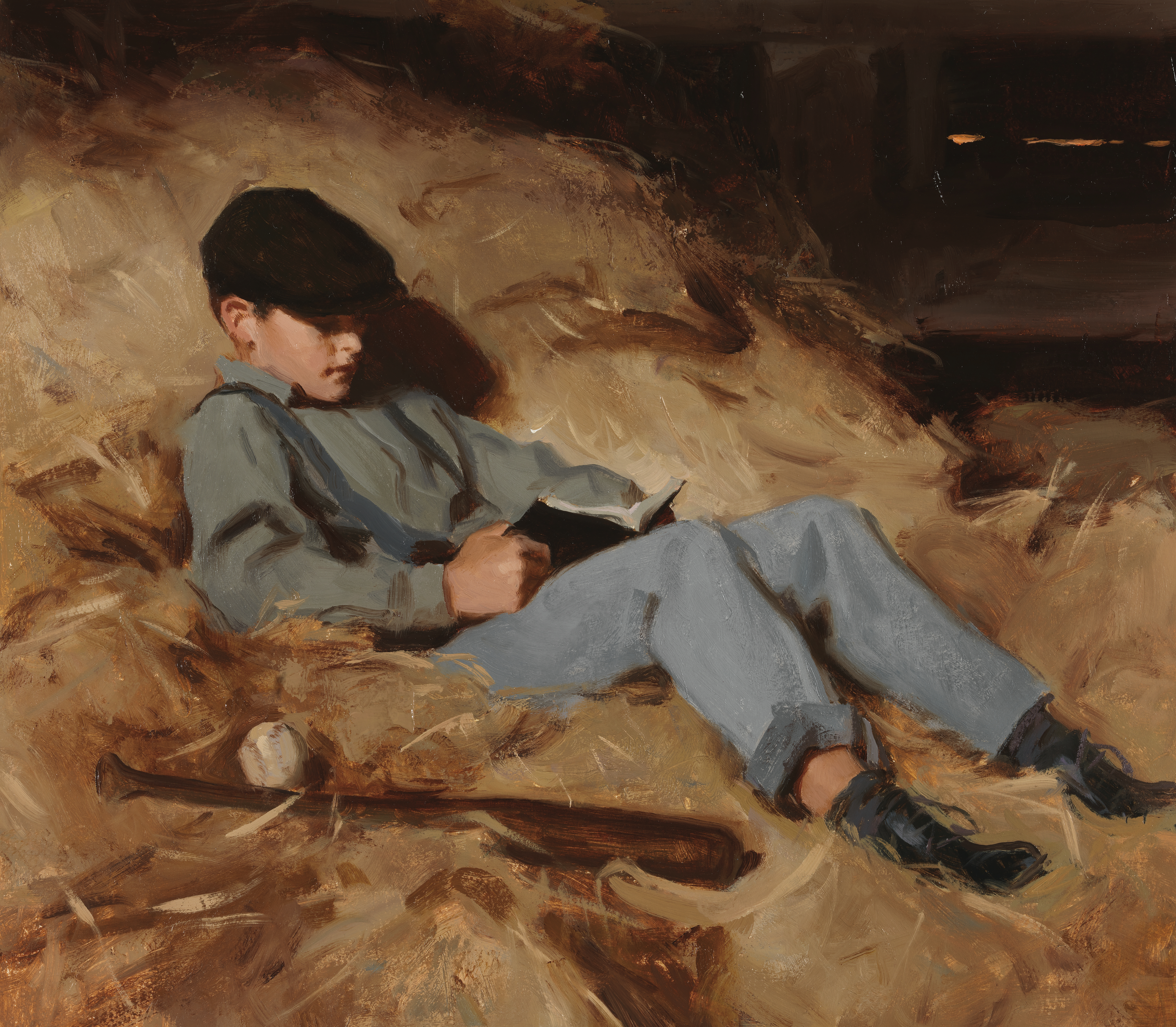 Joseph Fielding Smith as a young boy sitting in a hayloft, reading scriptures. Teachings of Presidents of the Church: Joseph Fielding Smith (2013), 5