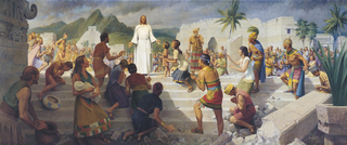 Jesus Christ Visits the Americas, by John Scott