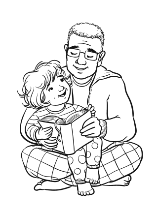 Coloring Page- I Love the Bible!