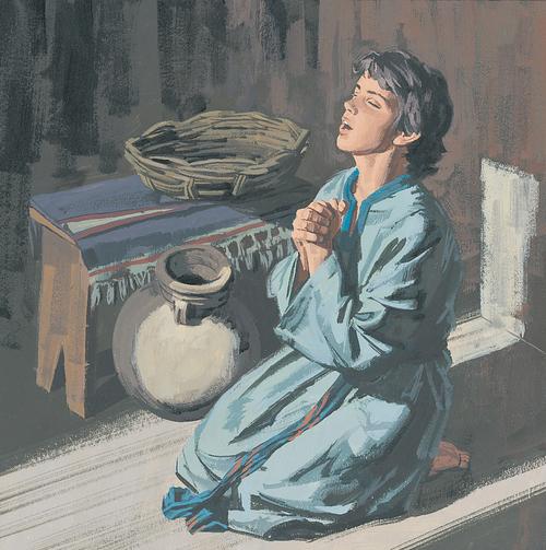 young Jesus praying