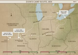 Church History Maps: Zion's Camp Route, 1834