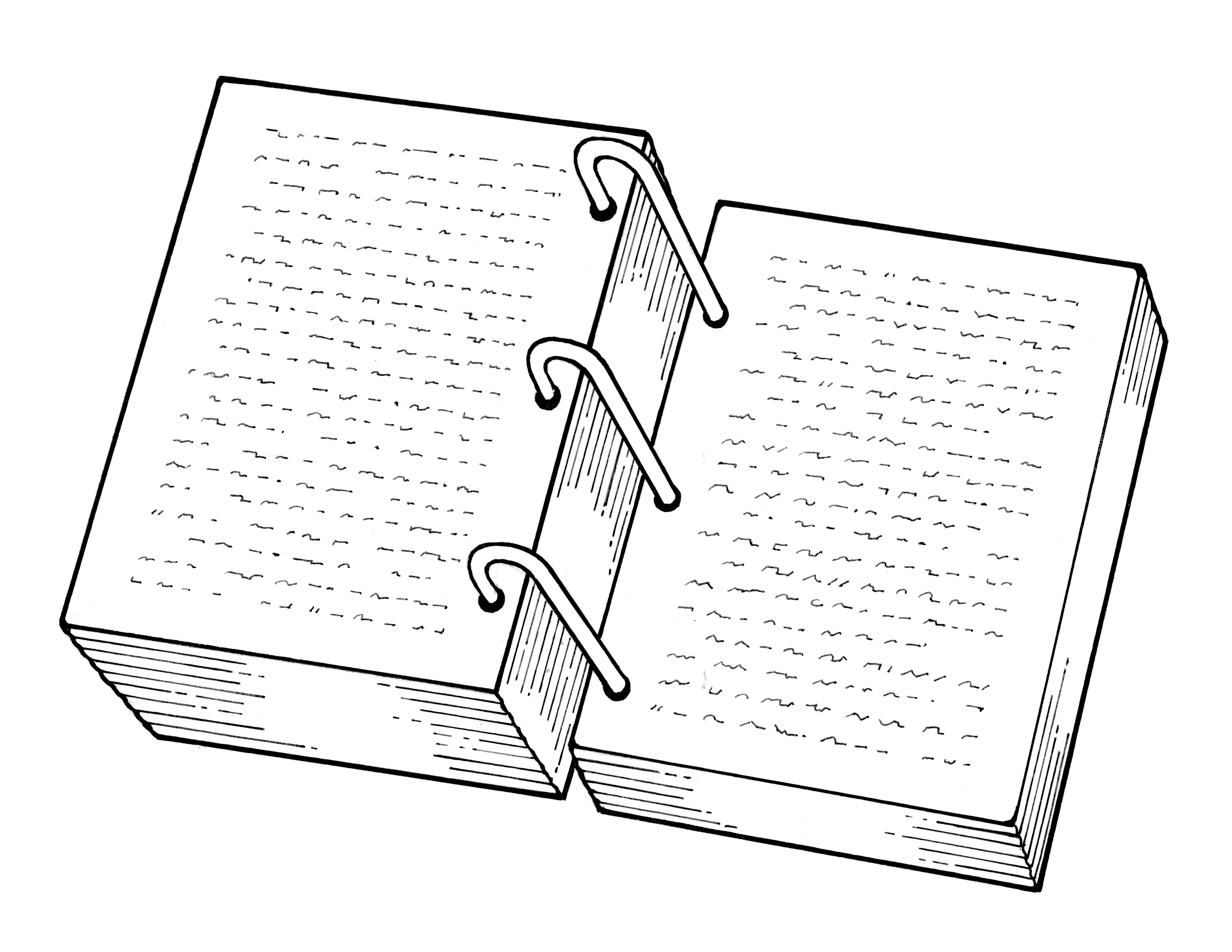An illustration of the golden plates.