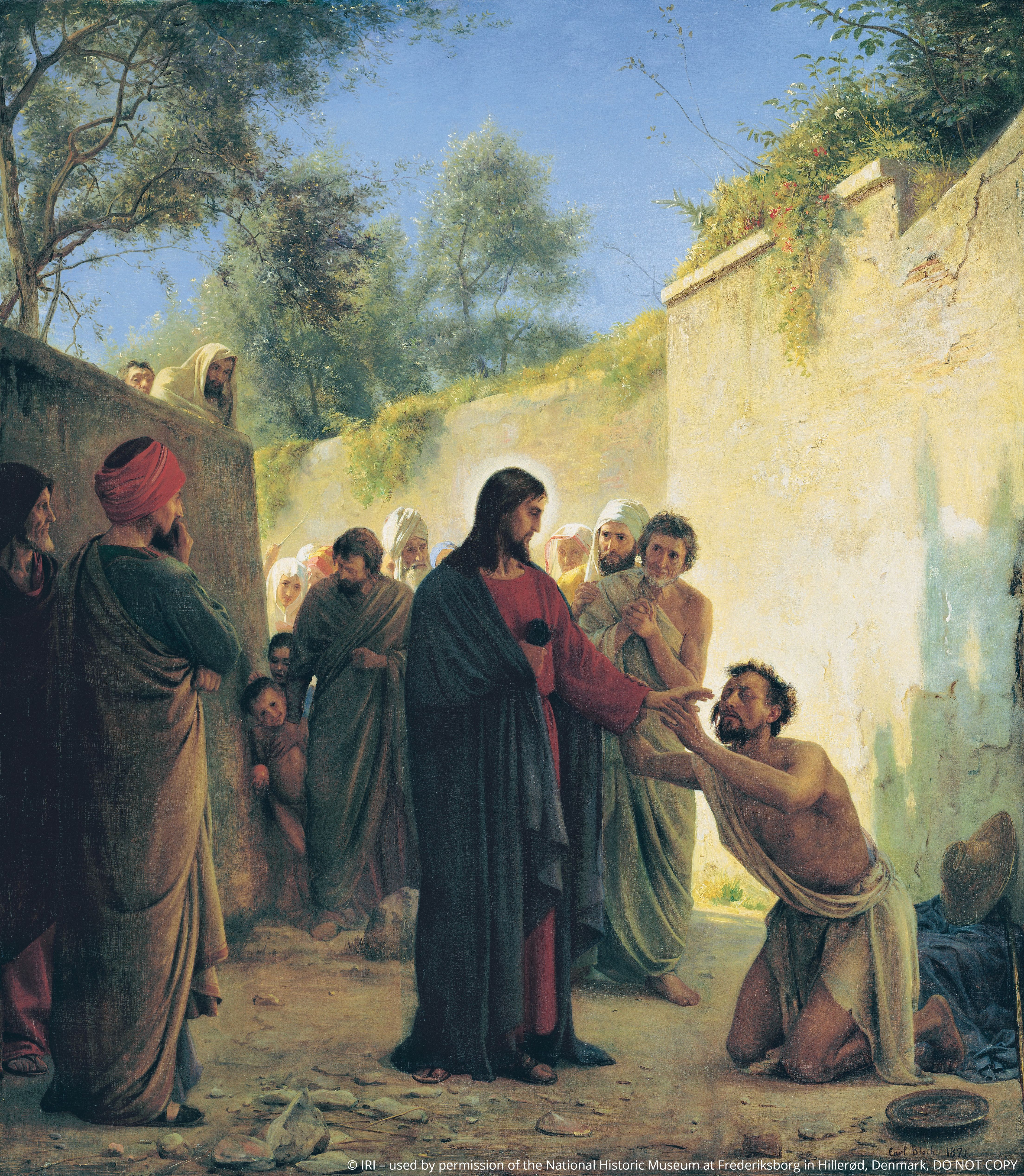Jesus Healing the Blind (Healing the Blind Man), by Carl Heinrich Bloch; © IRI, used by permission of the National Historic Museum at Frederiksborg in Hillerød, Denmark. DO NOT COPY. This asset is for Church use and online viewing only.