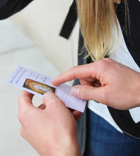 sharing pass-along card