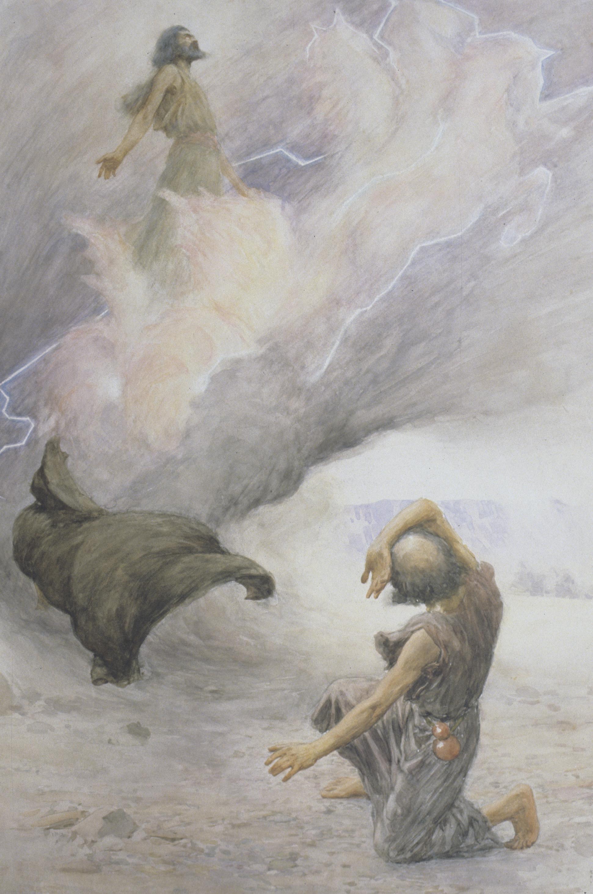 Elijah Ascending into Heaven, by W. H. Margetson