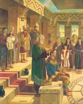 King Benjamin Confers the Kingdom on Mosiah