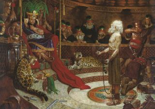 Abinadi before King Noah (Abinadi Appearing before King Noah)
