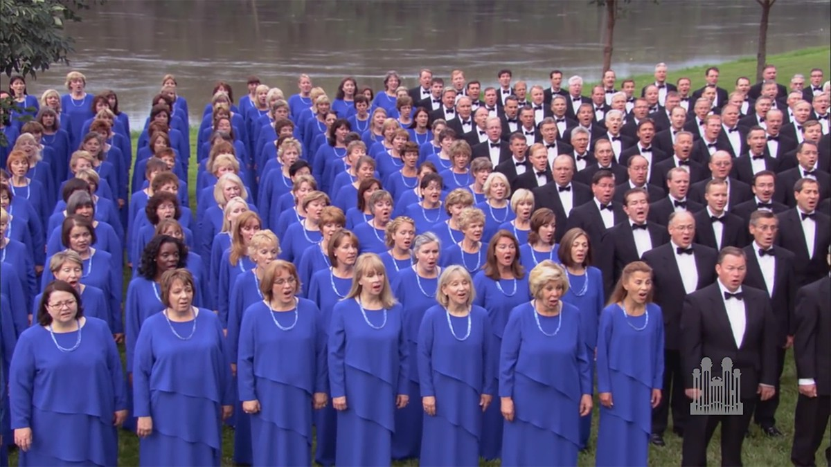 """On the banks of the Missouri River, the Mormon Tabernacle Choir and Orchestra at Temple Square present """"Amazing Grace"""" arranged by Mack Wilberg."""