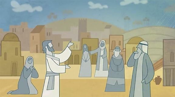 Jesus Christ teaches His disciples in the city of Jerusalem