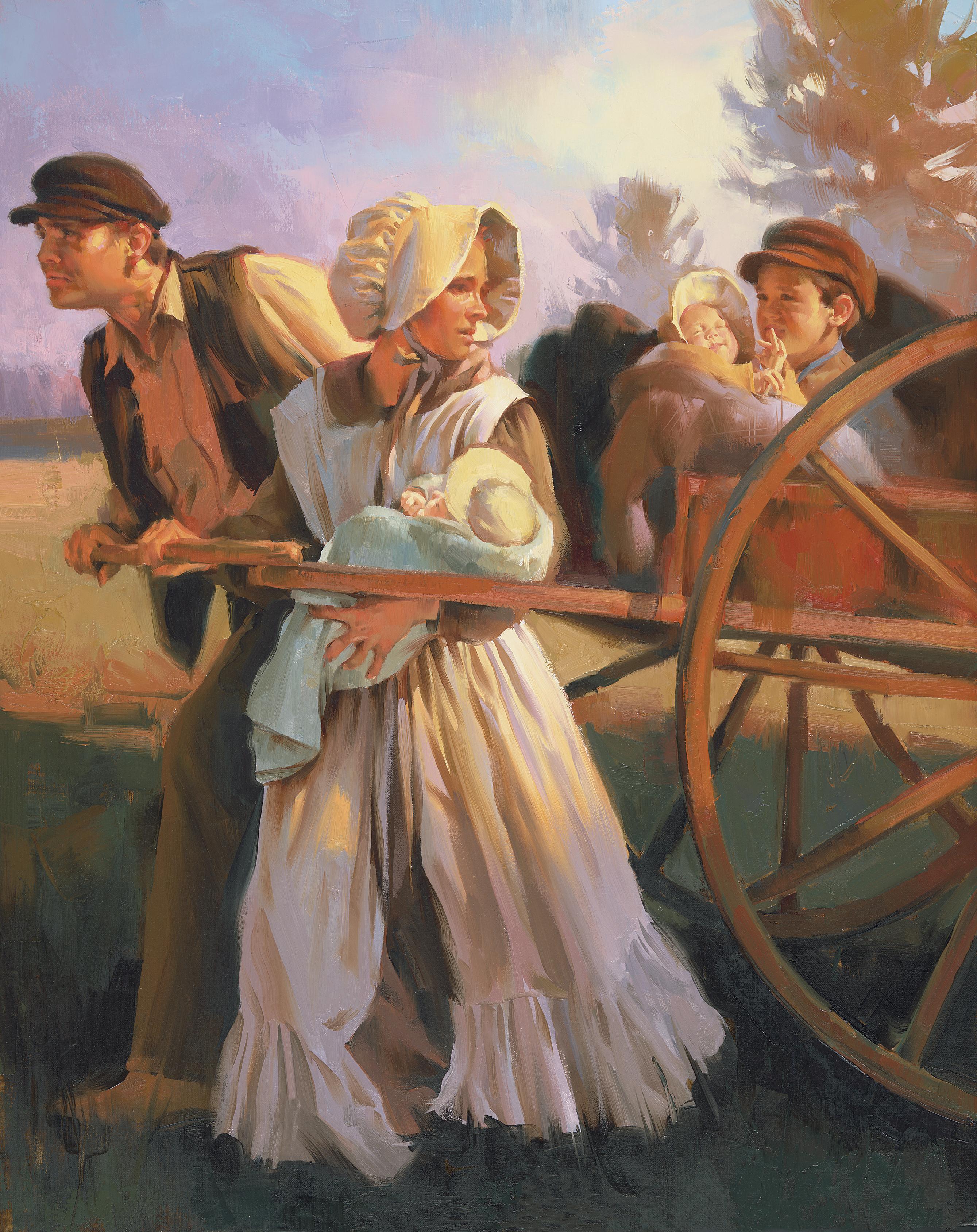 Handcart Pioneers, by Sam Lawlor