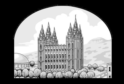 Saints V2 illustration - Salt Lake Temple