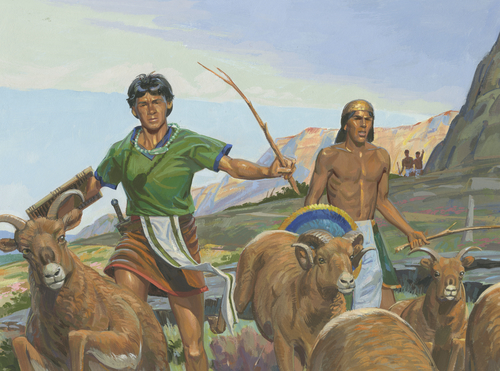 Lamanites scattering flock