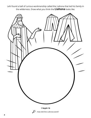 The Liahona coloring page