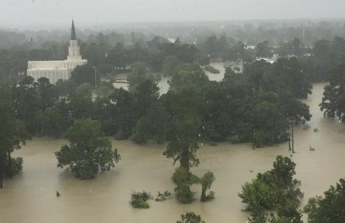 Houston Temple Flooded
