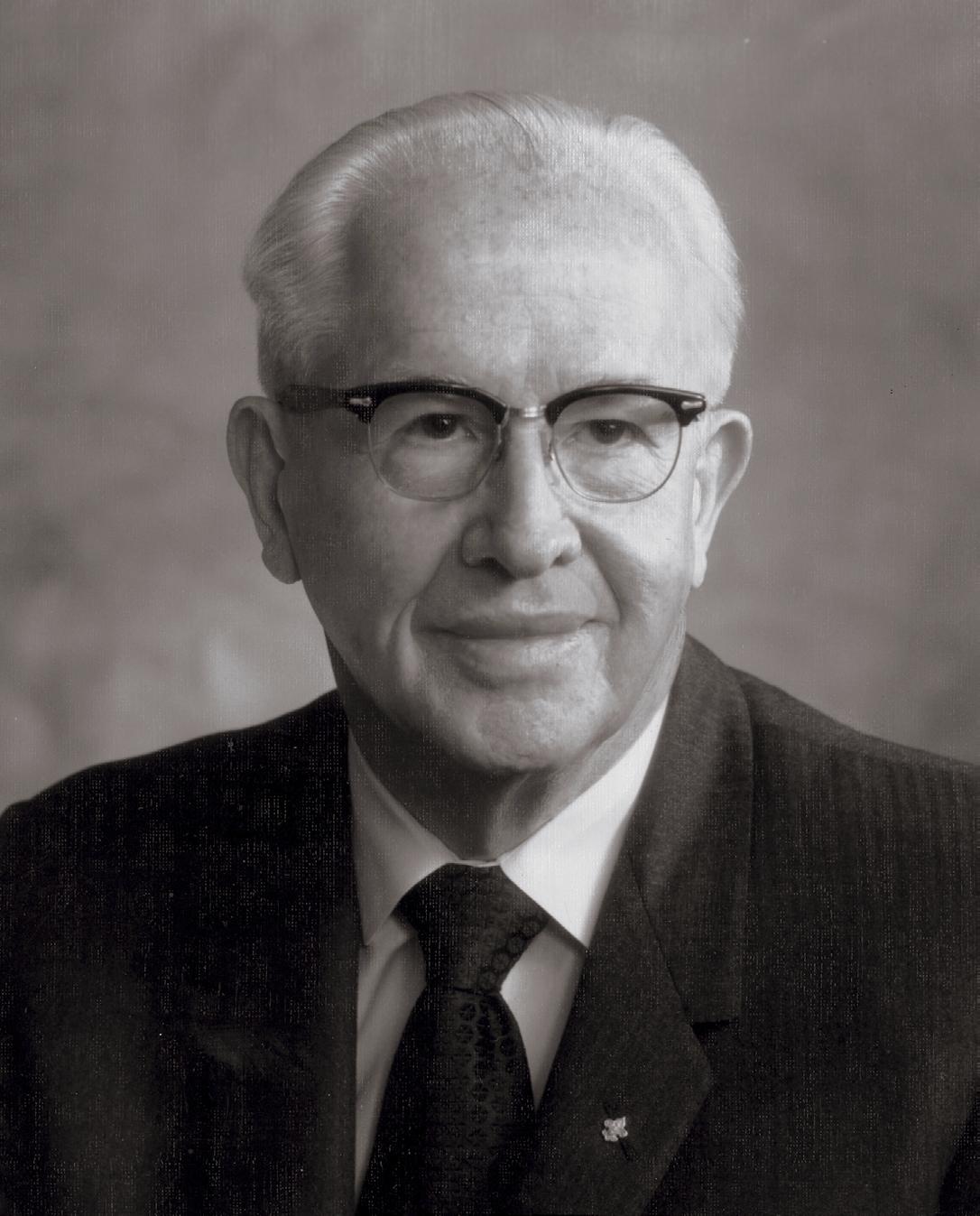 President Ezra Taft Benson around 1962. Teachings of Presidents of the Church: Ezra Taft Benson (2014), iv