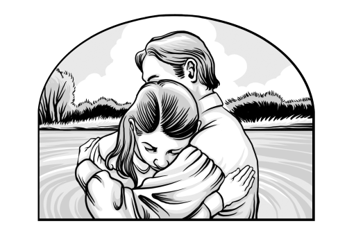 Saints V2 illustration - Baptism Embrace