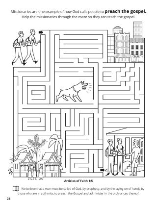Fifth Article of Faith coloring page