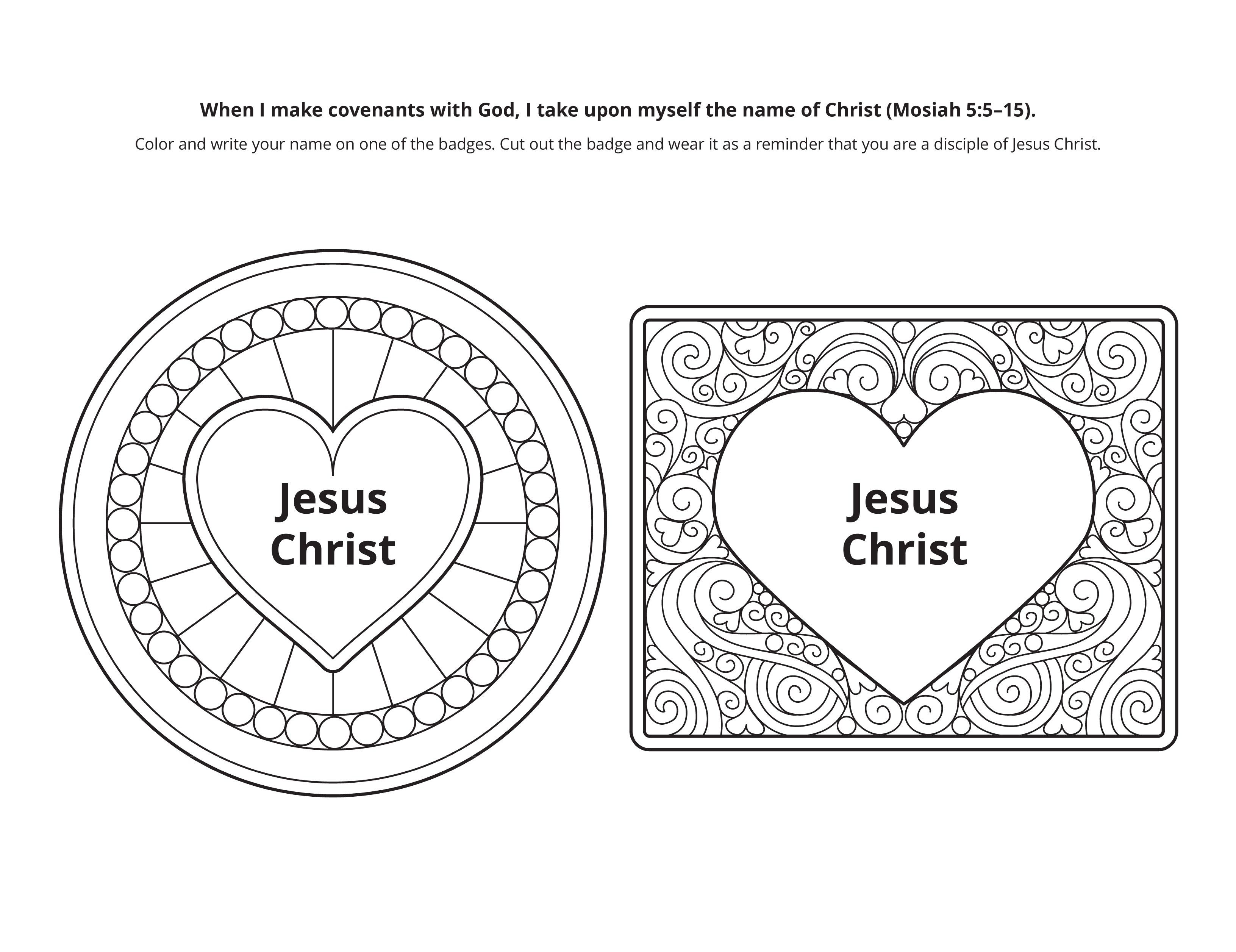Line art of a heart, representing covenants with Christ.