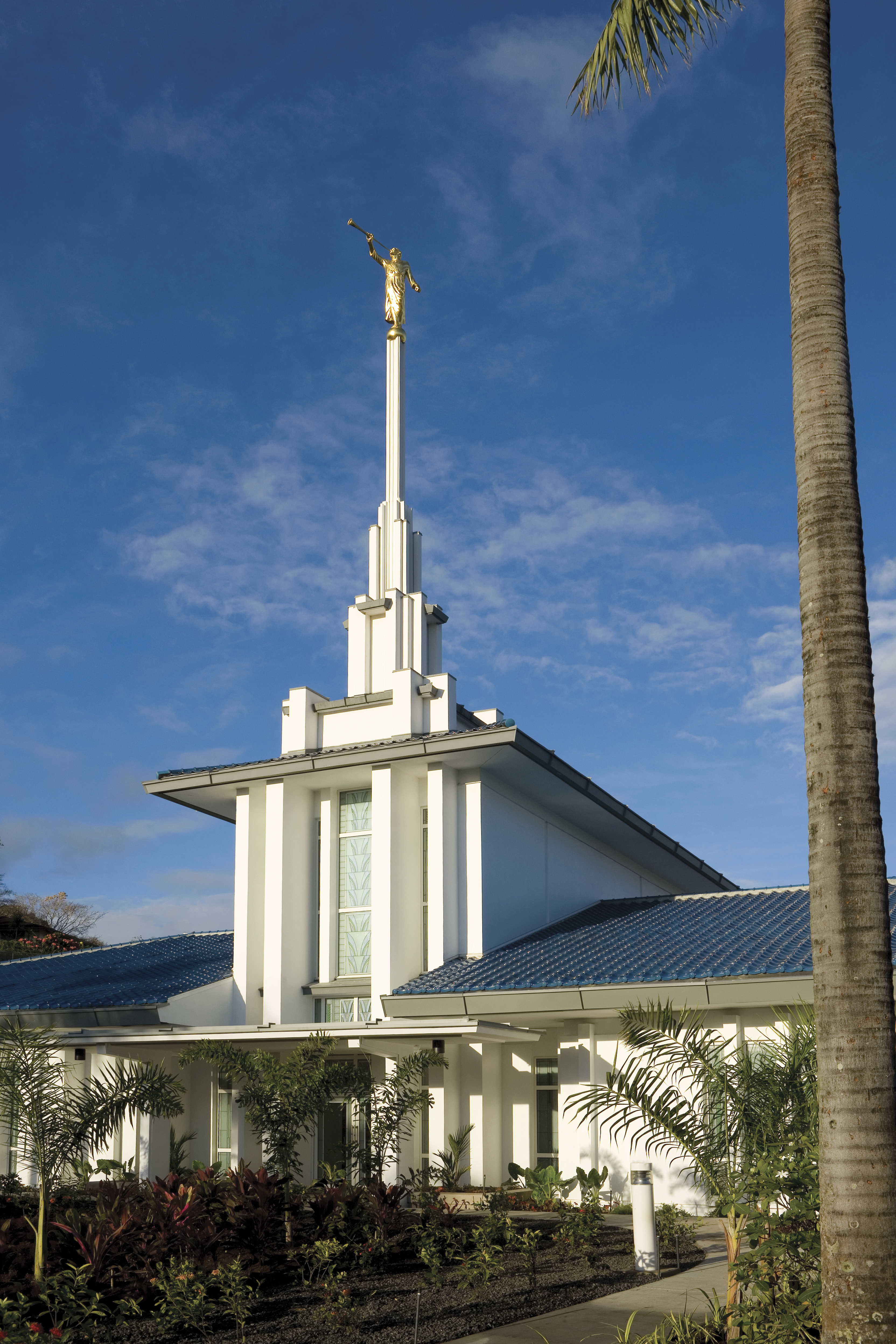 The Papeete Tahiti Temple, including the entrance and exterior of the temple.