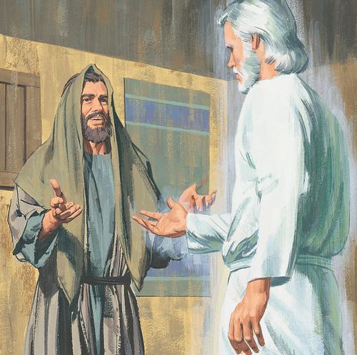 Jesus appearing to man