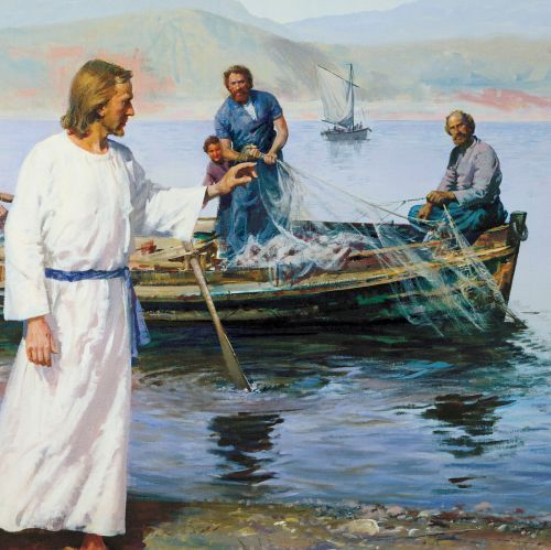 Christ calling Peter and Andrew