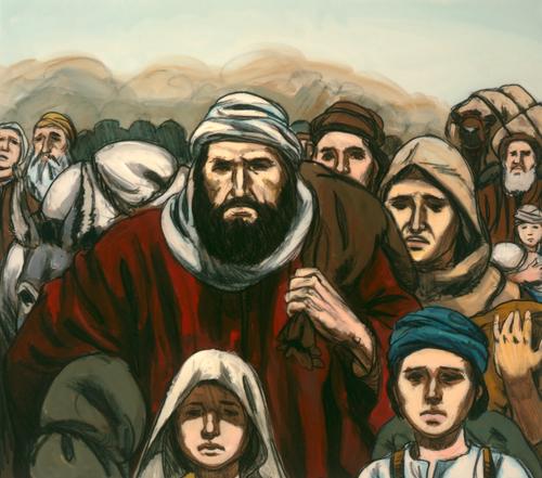 Israelites traveling