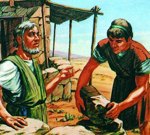 Laban speaking to Jacob