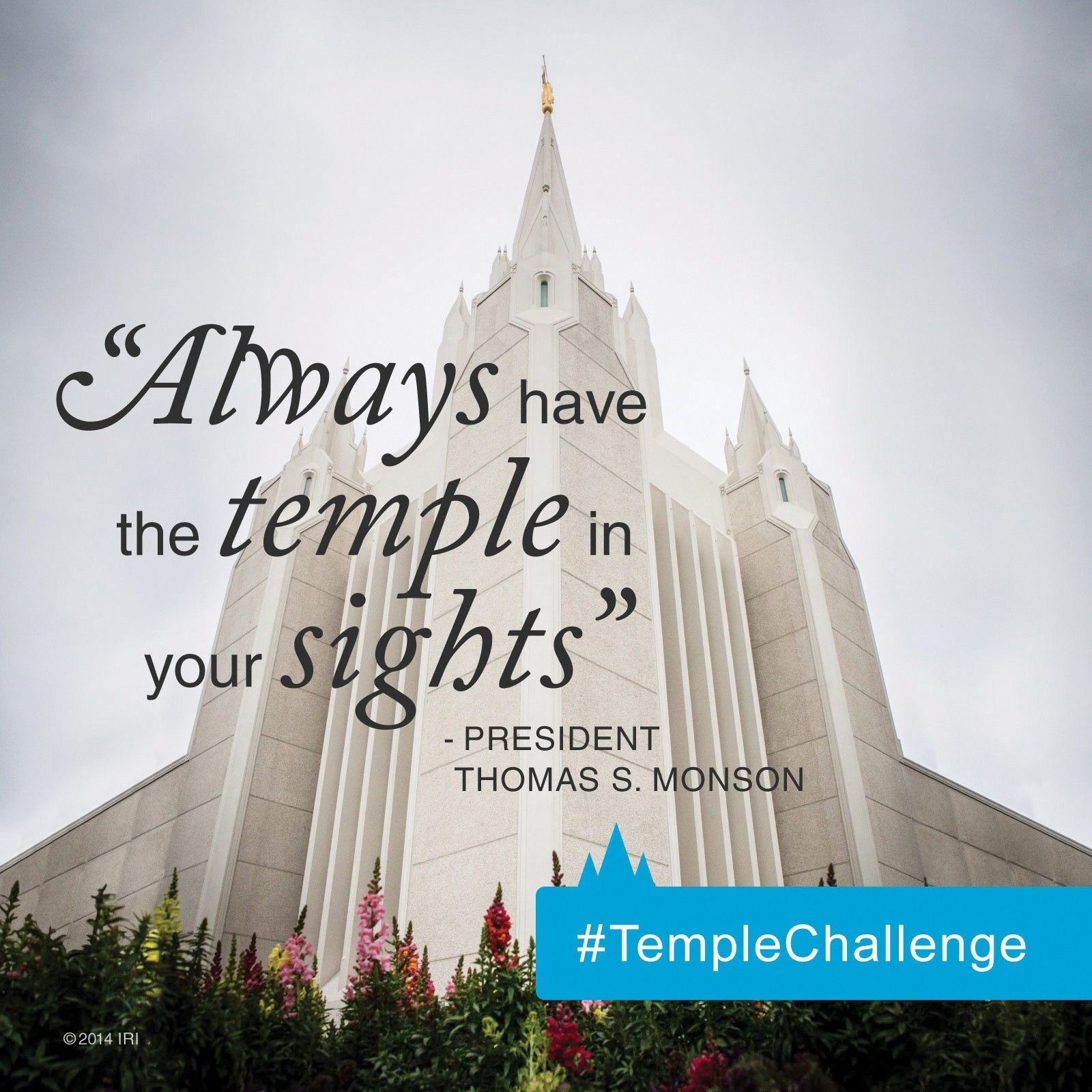 """""""Now, my young friends who are in your teenage years, always have the temple in your sights. Do nothing which will keep you from entering its doors and partaking of the sacred and eternal blessings there.""""—President Thomas S. Monson, """"The Holy Temple—a Beacon to the World"""" Learn more about keeping your sights on the temple by accepting the Youth Temple Challenge."""