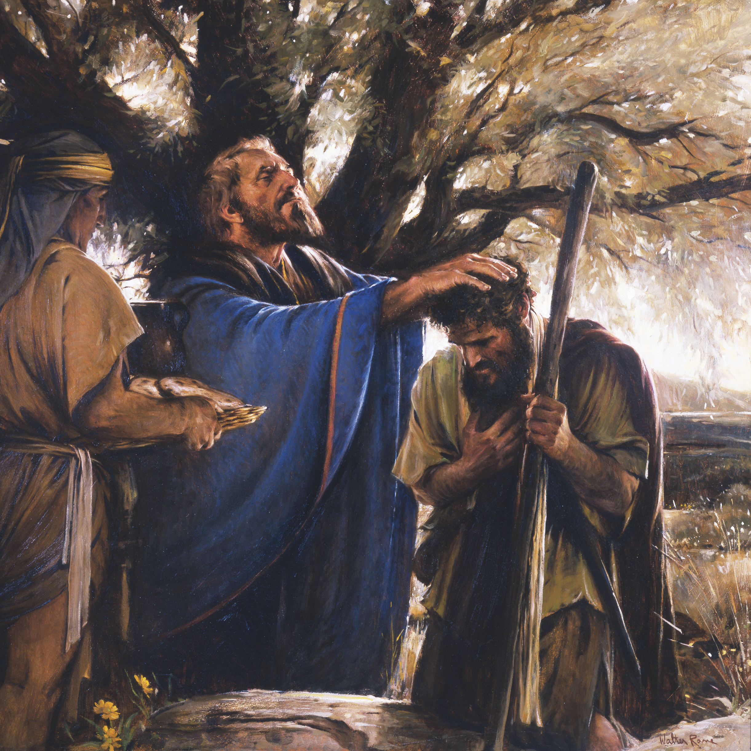 Melchizedek Blesses Abram, by Walter Rane