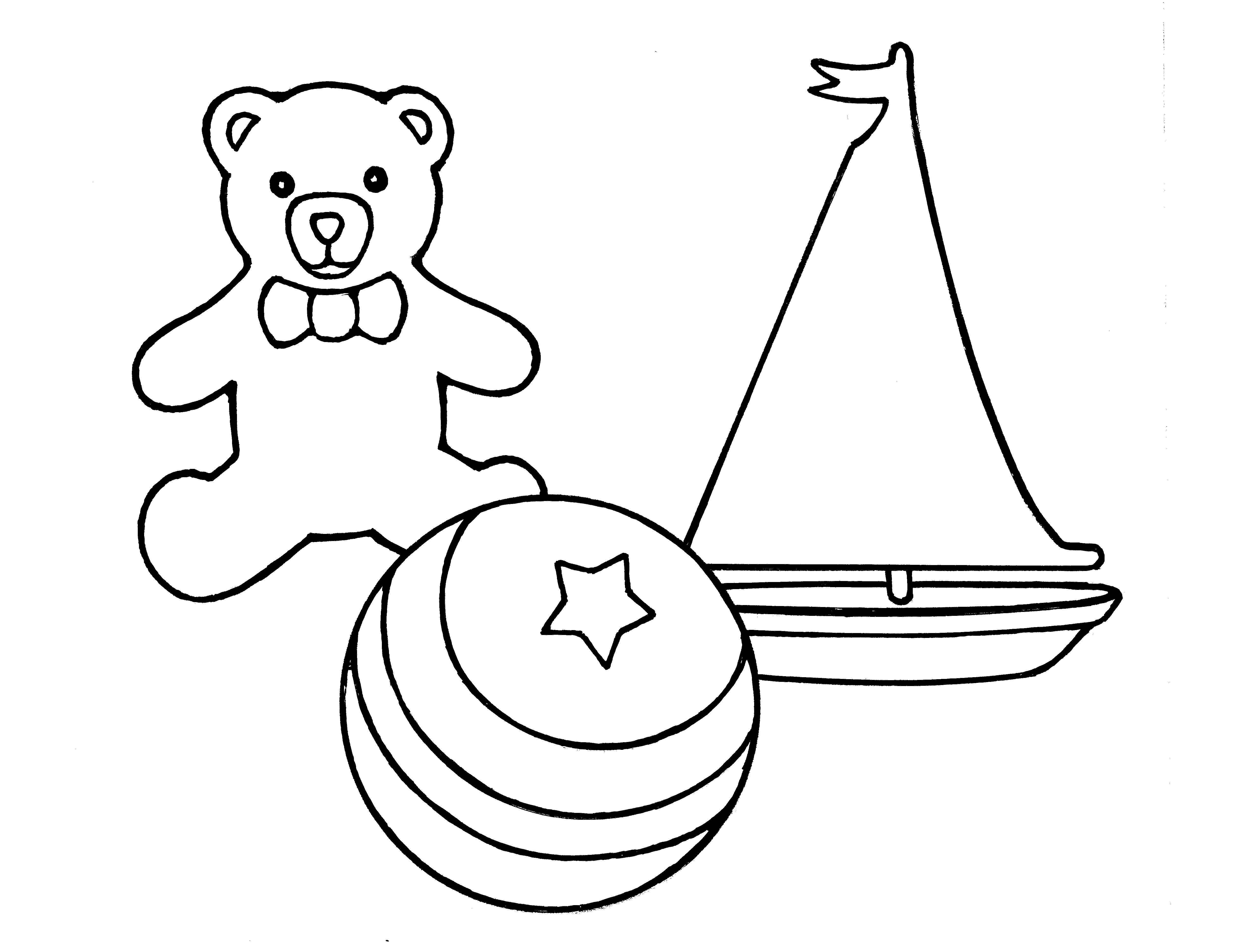 An illustration of toys from the nursery manual Behold Your Little Ones (2008), page 75.