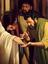 Apostles looking at Jesus's hand