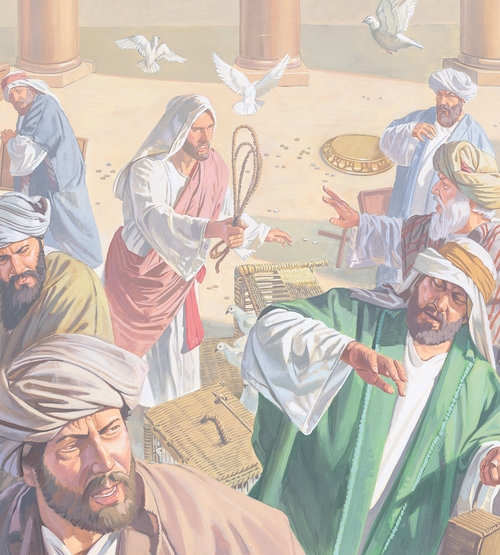 Jesus sending sellers away from temple