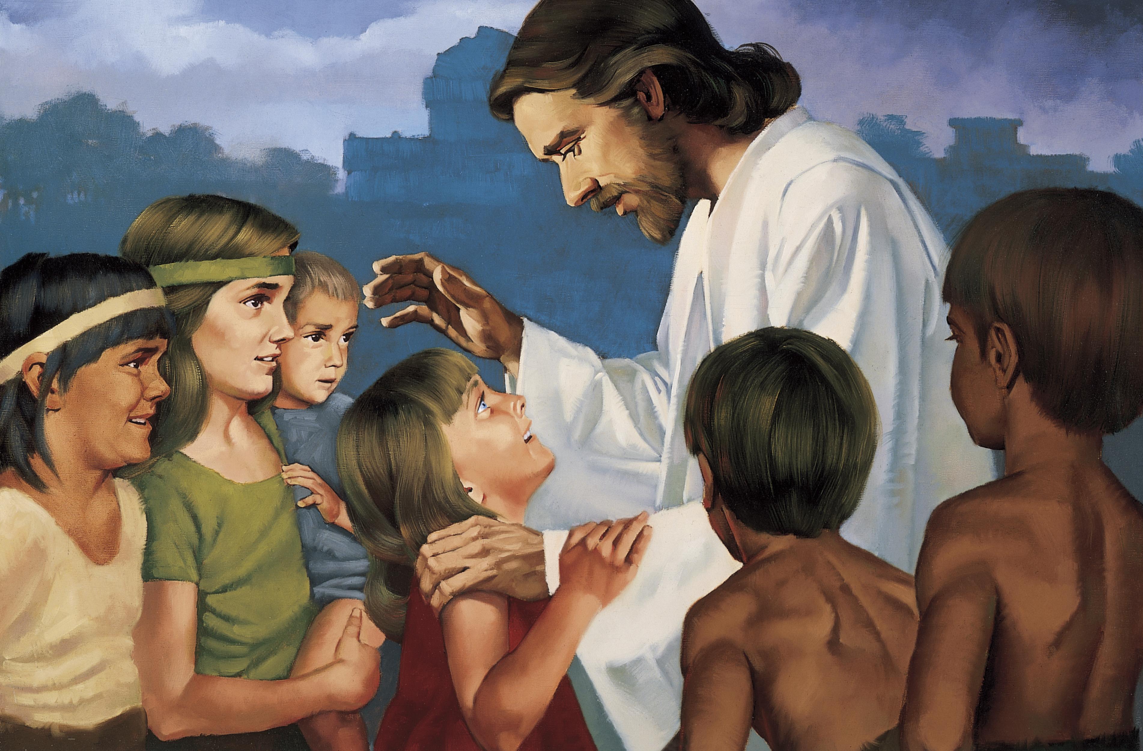 Christ Blessing the Nephite Children, by Ted Henninger