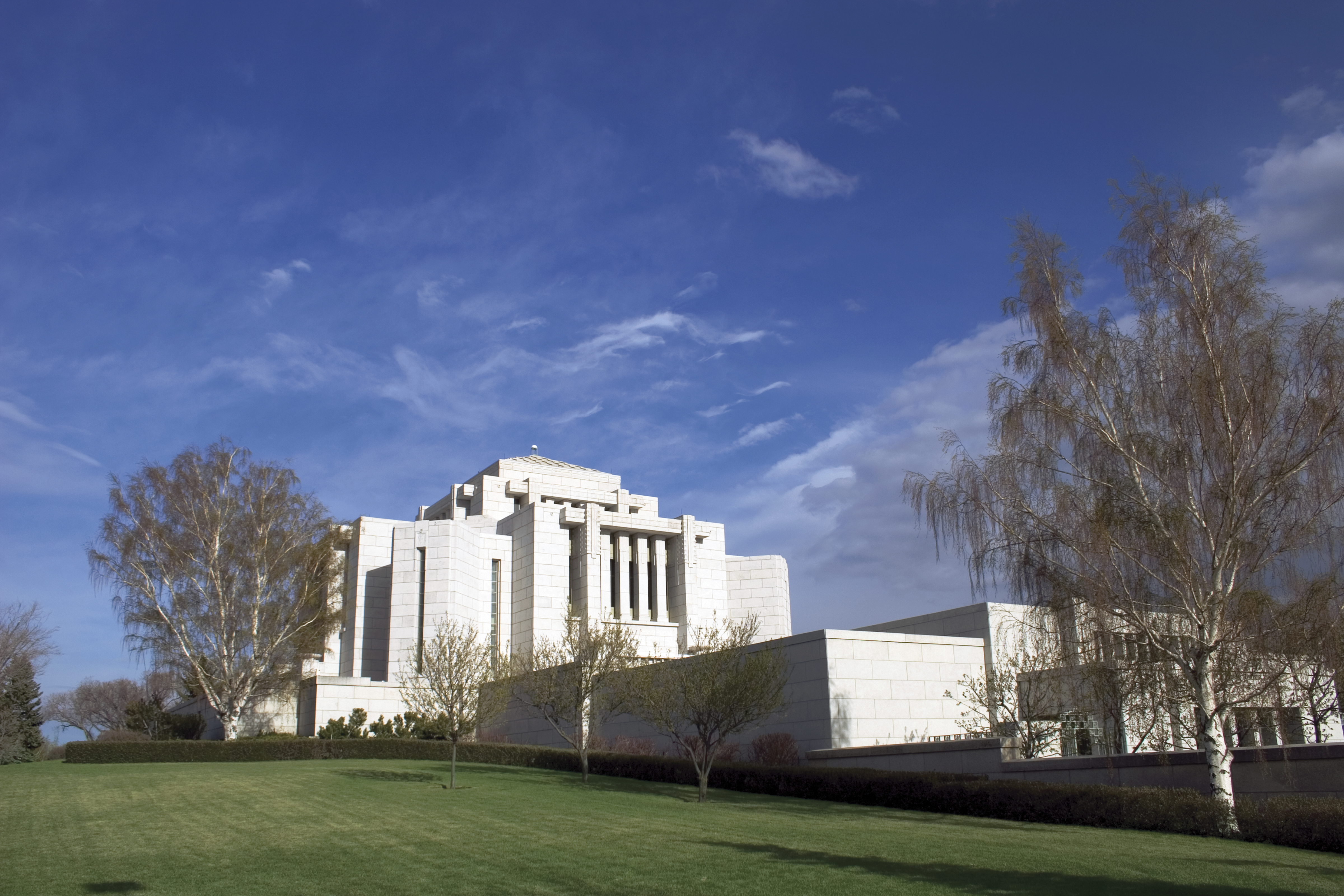 The Cardston Alberta Temple entrance, including scenery.