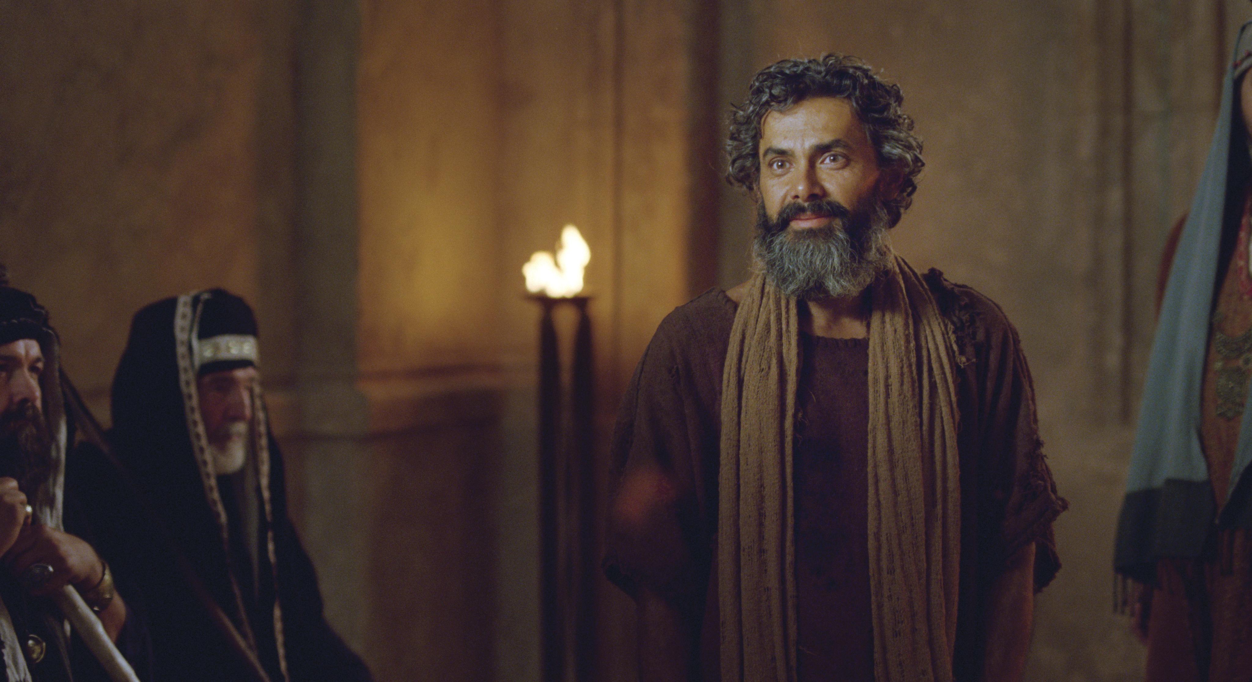 A man born blind tells the Pharisees of Christ's healing power.