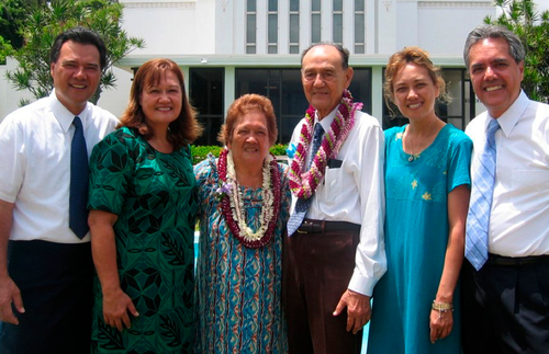 Haleck family sealed in the temple