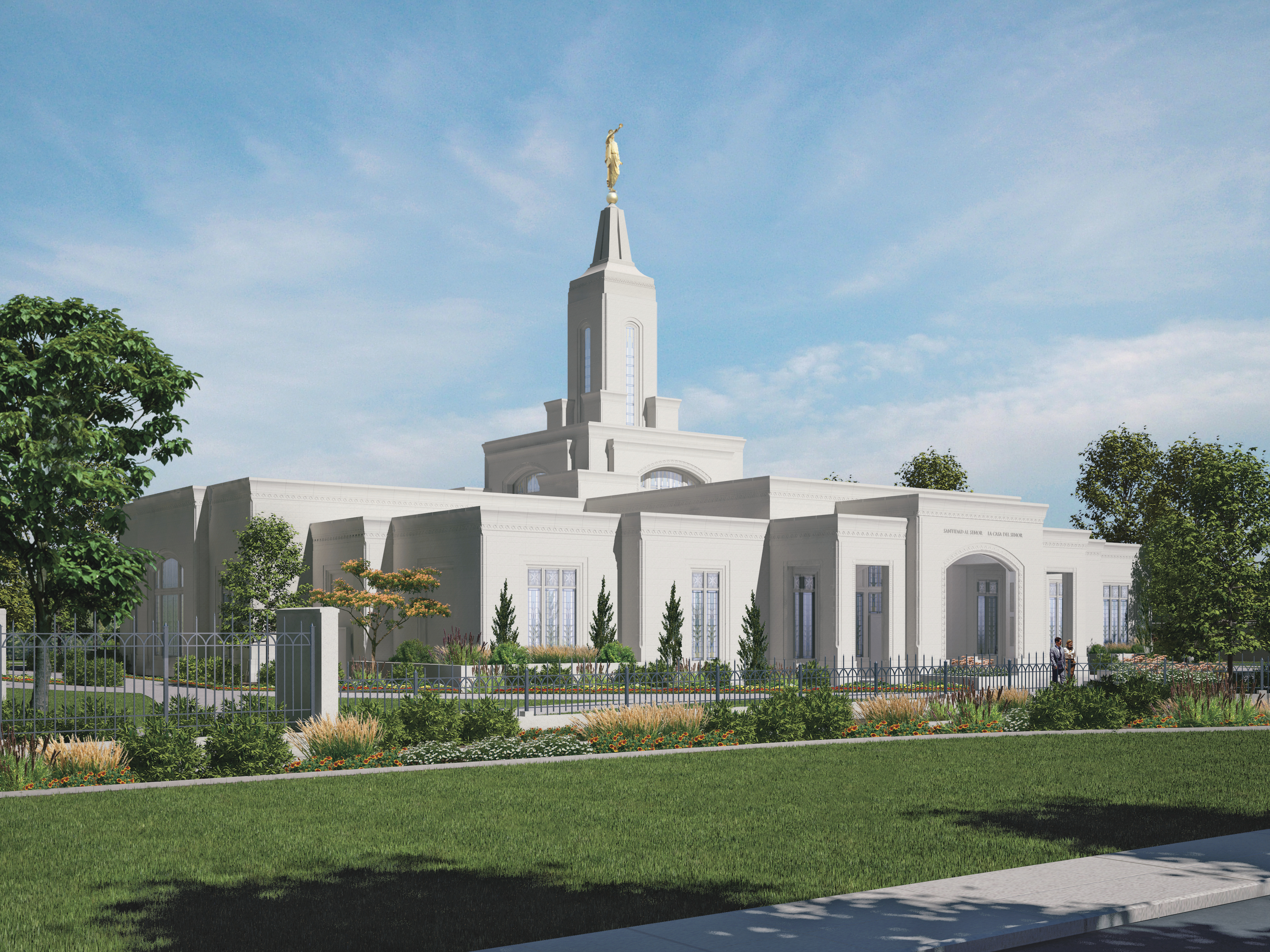 An artist's rendering of the Córdoba Argentina Temple.